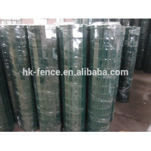 "pvc coated welded euro fence holland mesh in roll 3"" x 3"""